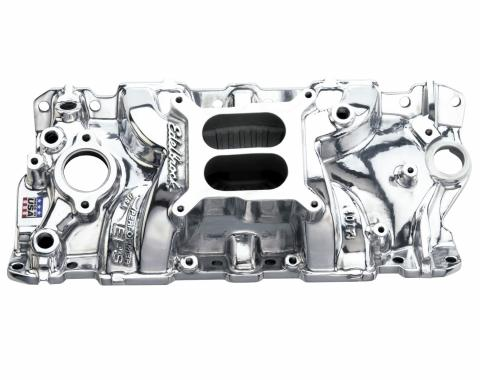 Edelbrock Performer EPS Intake Manifold for 1955-1986 Small-Block Chevy, Non EGR, Polished Finish 27011