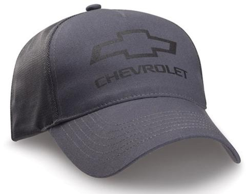 Charcoal Twill And Mesh Bowtie Cap