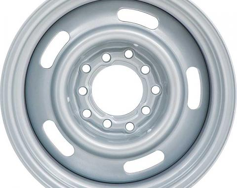 """15"""" X 8"""" Silver Rally Wheel with 5 x 5"""" Bolt Pattern and 4-1/4"""" Backspace"""