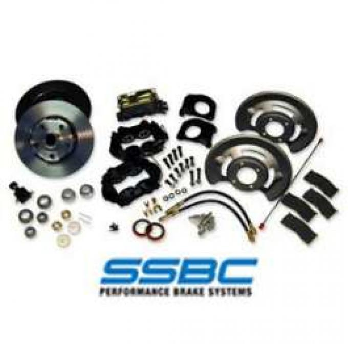 Front Disc Brake Conversion Kit, 4 Piston Calipers, 5 Lug, Fairlane, Torino, Falcon, Ranchero, Montego, Cyclone, 1970-1973