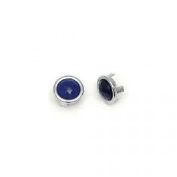 Blue Dot Lens - Glass With Chrome Bezel