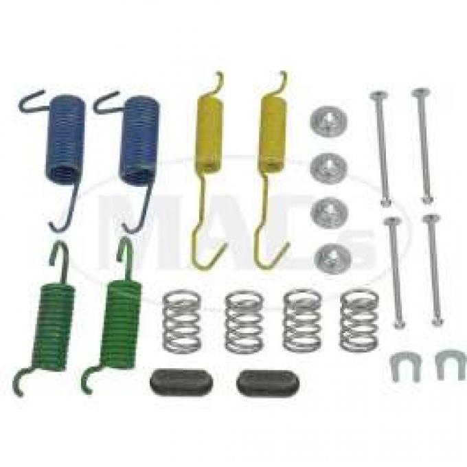 Drum Brake Hardware Combi-Kit, Rear, 10 X 2-1/2, Ford & Mercury, 1972-1976