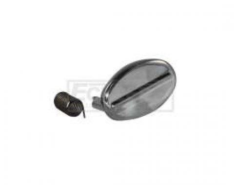 Trunk Lock Cover - Die-cast Chrome - Includes Spring