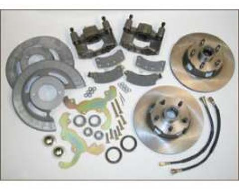 Disc Brake Conversion Kit, Bolt On, 4 To 5 Lug Conversion, Comet, Falcon, Ranchero, 1960-1965