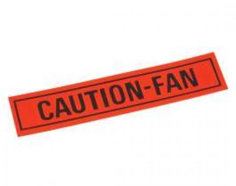 Decal - Caution Fan Warning