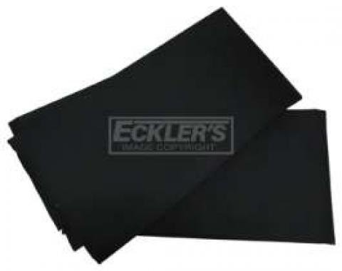 Convertible Top Pads - Black - 65 Long