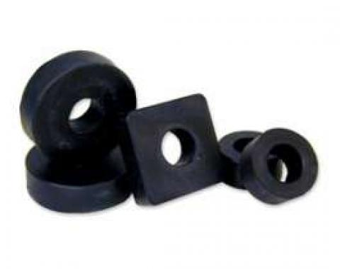 Body To Frame Pad Kit - All Rubber - 36 Pieces