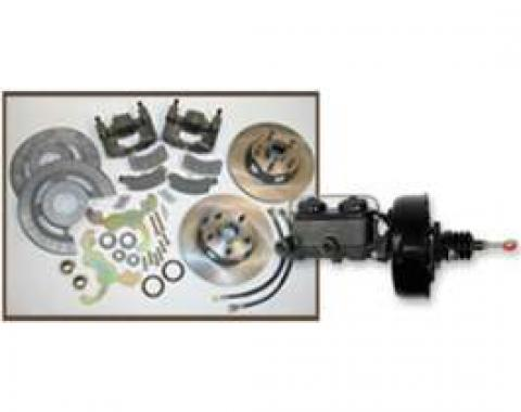 Front Disc Brake Conversion Kit, With Power Booster & Master Cylinder, Fairlane, Galaxie, Ranchero, 1957-1959
