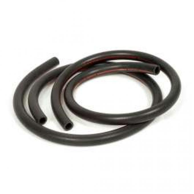 Heater Hose Set - Exact Reproduction - 2 Pieces - Red Stripe - For Cars Without Air Conditioning - From 2-1-1968