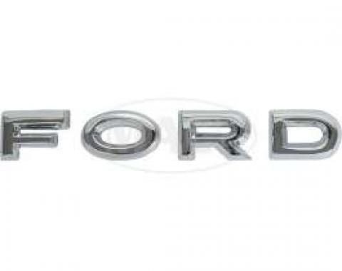Hood Letter Set - F-O-R-D - Chrome