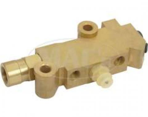 Disc Brake Conversion Proportioning Valve, For Dual Bowl Master Cylinders, Ford, 1955-1979