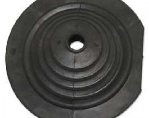 Transmission Floor Shift Boot - Round With Flat Side