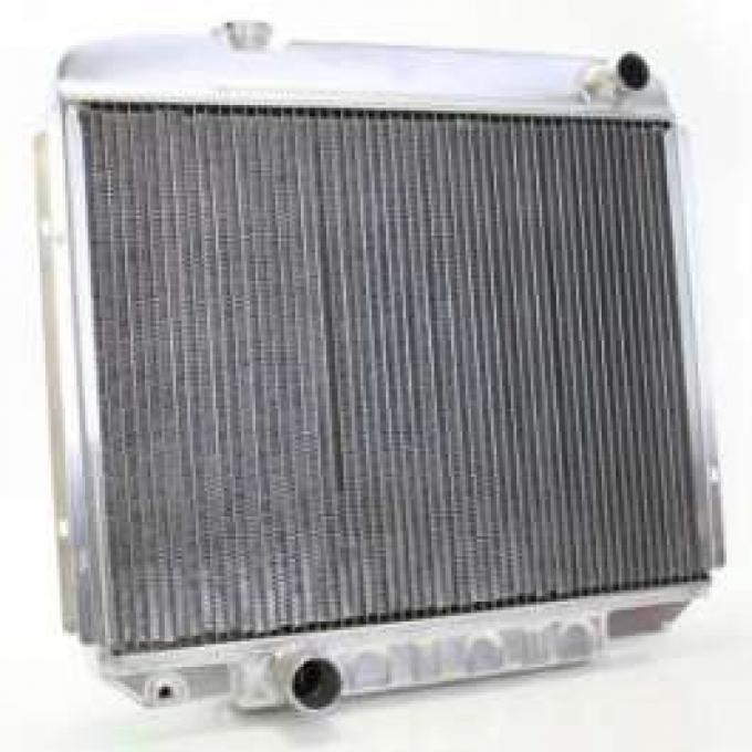 1965-66 FULL SIZE FORD GRIFFIN ALUMINUM RADIATOR, V8 WITH MANUAL TRANSMISSION
