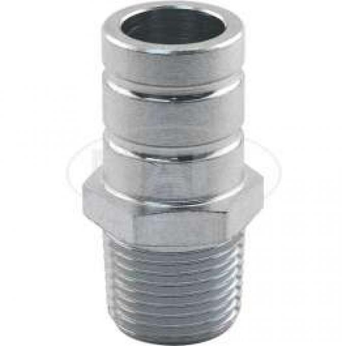 Heater Hose Straight Connector - With 3/8 Tapered Thread and 5/8 Hose Nipple