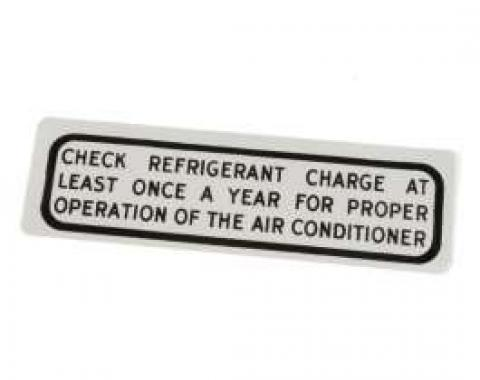 Air Conditioning Glove Box Decal