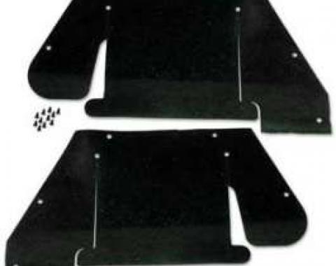 Fender Apron To Upper Control Arm Splash Shields - Die-Cut Black Rubber