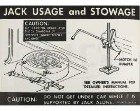 Jack Instruction Decal, Ranchero, 1968-1969