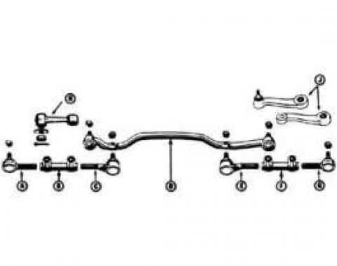 Idler Arm and Frame Bracket - 2 Bolt Version Of Original 3 Bolt Setup - V8