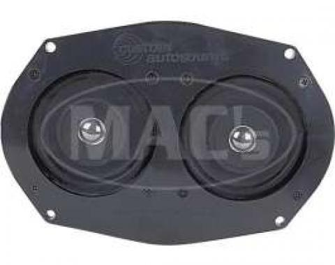 Dual Front Speaker Assembly - Dash Mount - 60 Watt - 6 x 9 - For Cars Without Air Conditioning