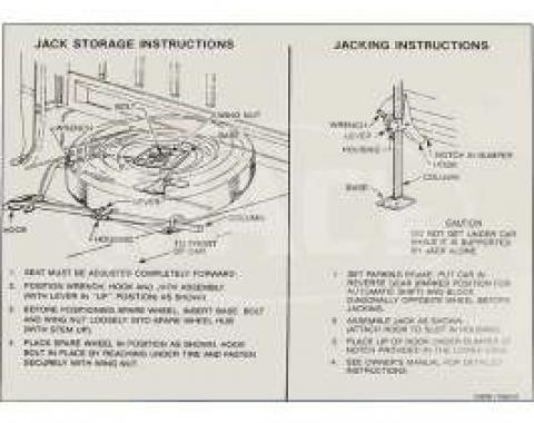 Jack Instruction Decal, Ranchero, 1966-1967