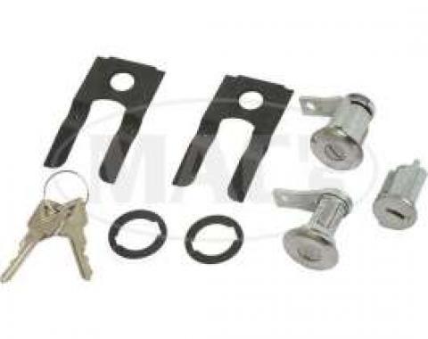 Door Lock Set, With Ignition Cylinder, Falcon/Fairlane/Ranchero/Galaxie, 1961-1965