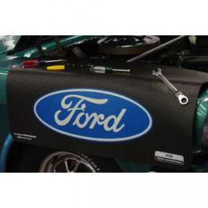 Fender Gripper® Cover, Black With Ford Oval In Blue and White