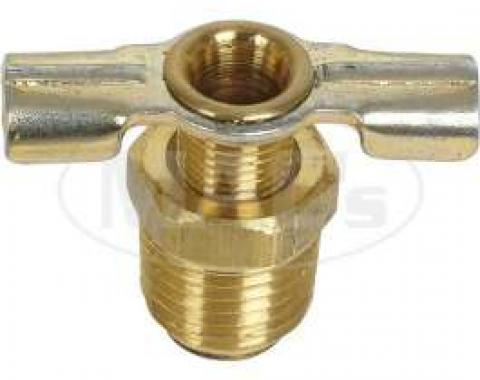 Radiator Drain Petcock Valve - 1/4 Thread - Straight Outlet