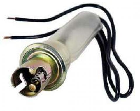Tail Light Socket and Wires - Metal Socket With Double Contacts