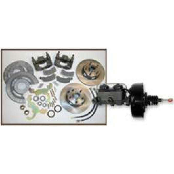 Disc Brake Conversion Kit, With Power Booster & Master Cylinder, Comet, Falcon, Montego, Ranchero, Torino, 1966-1971