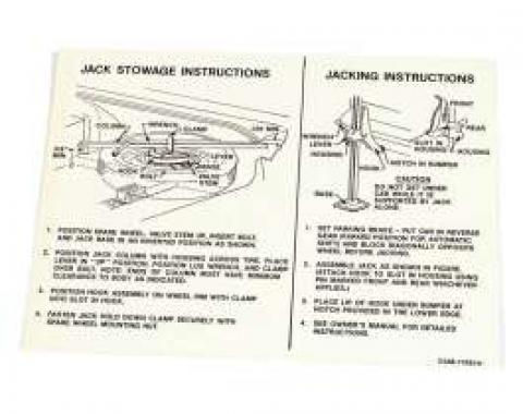 Jack Instructions Decal - C5AB-17093-H