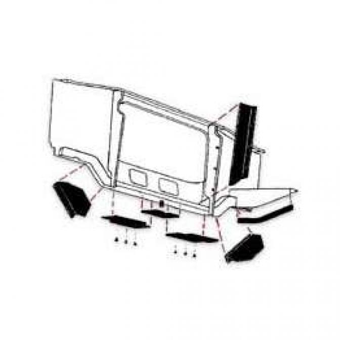 Side Radiator Air Deflector Seals - 17-7/64 x 2-7/8 - 240 6 Cylinder and 302 V8 With Air Conditioning