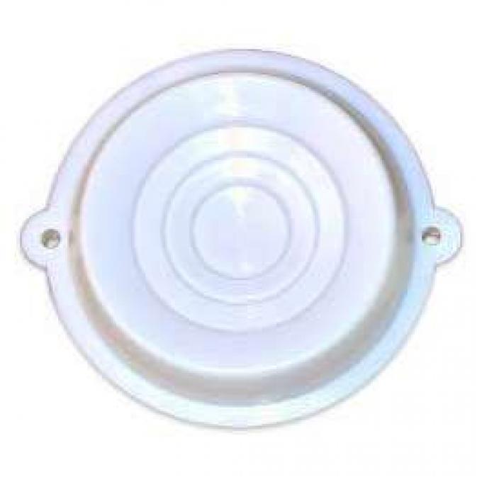 Dome Light Lens - White Plastic