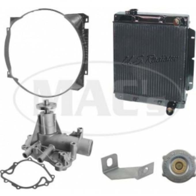63/65 Falcon/Ranchero Cooling Kit (2 Row 260/289) Xtra