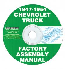 Chevy Truck Shop Assembly Manual CD, 1947-1955 (First Series)
