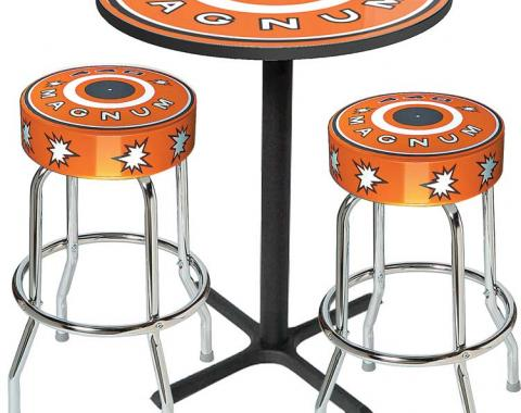 OER Table & Stool Set - Mopar 440 Magnum Logo - Black Based Table With Chrome Stools (3-Pc) *MD67511