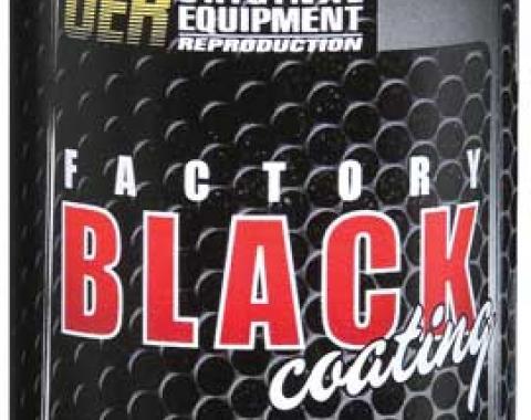"OER ""Factory Black"" Semi Gloss Black Paint - 16 Oz Aerosol Can K89542"