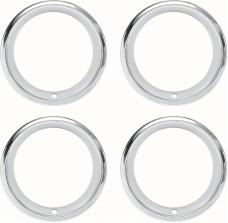"""OER 14"""" Stainless Steel 2-7/8"""" Deep Step Lip Rally Wheel Trim Ring Set for Reproduction Wheels 545910"""