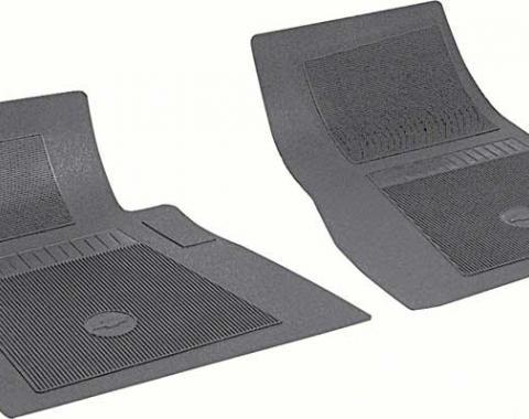 OER Chevrolet 2 Piece Black Front Bow Tie Floor Mat Set FP72001