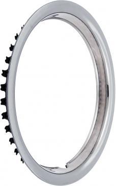 "OER 14"" Stainless Steel 1-1/2"" Deep Round Lip Rally Wheel Trim Ring TK3000"