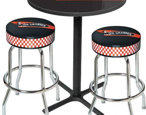 OER Table & Stool Set - Mopar Air Grabber Logo - Black Based Table With Chrome Stools (3-Pc), Style 14 *MD67514