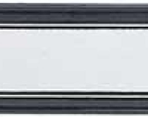 GM Truck Dash Plate with A/C, Black and Brushed Aluminum, 1973-1980