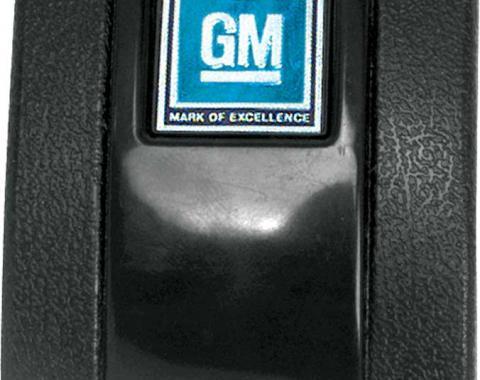 OER 1968-72 Black Standard Interior Seat Belt Cover with GM Mark of Excellence Emblem K883G