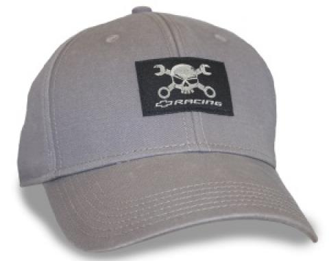 Grey Heavy Washed Cap with Mr. Crosswrench Patch