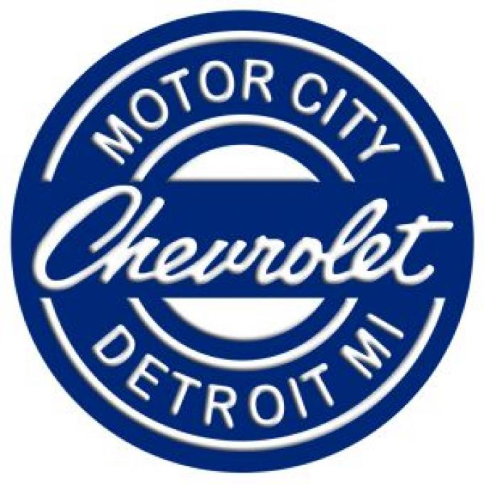 Tin Sign, Chevrolet Motor City Detroit