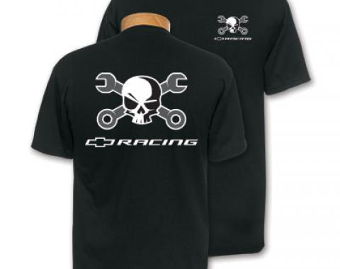 Mr Crosswrench Chevy Racing Black T-Shirt